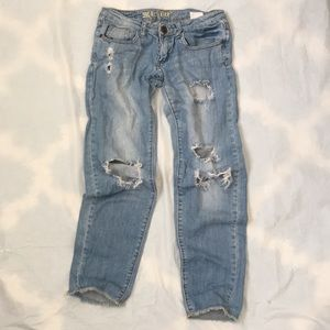 Low Rise Denim Jeans Ripped Destroyed MAKE OFFER
